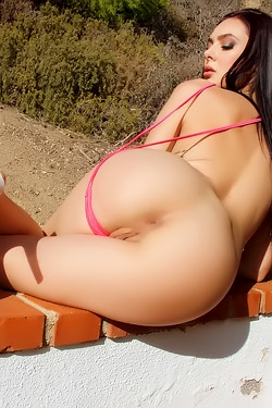 Horny Pornstar Marley Brinx Stripping