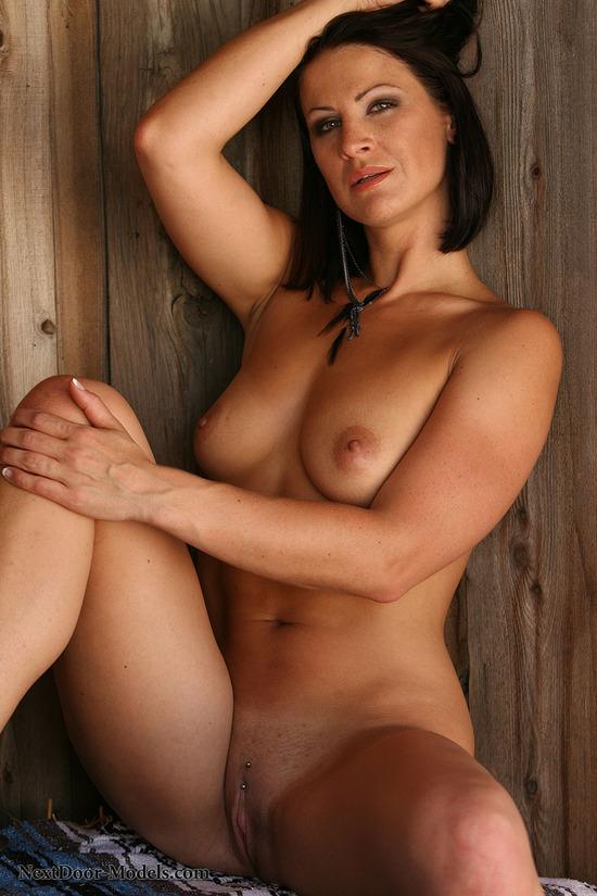 Elegant Brunette Milf Cassidey Disrobes To Squat Nude Spread Pussy In Heels
